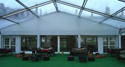 Clear roof and astro turf flooring