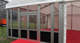 glazed door system for all types of marquees